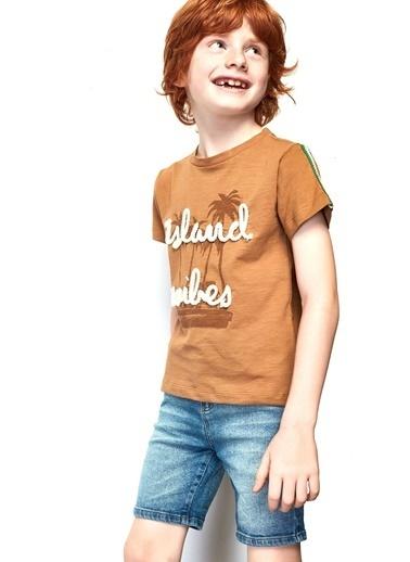 Nebbati Erkek Çocuk Jean Şort 19SS0NB3102 Mavi
